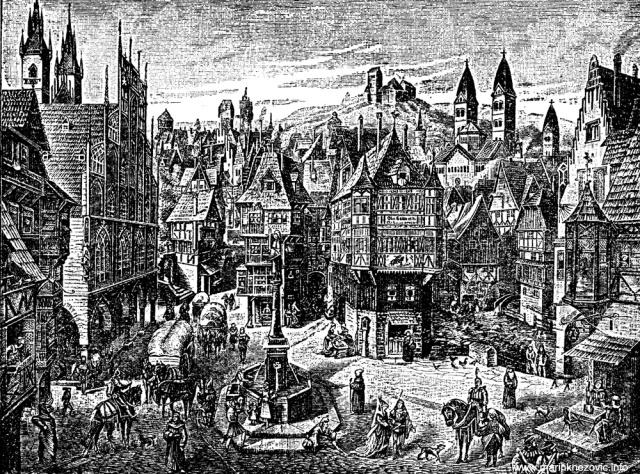 Idealni prikaz srednjovjekovna grada