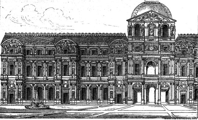 Fasada Louvrea